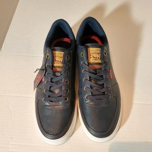 New Levi's Blue Lace Up Sneakers Size 8.5